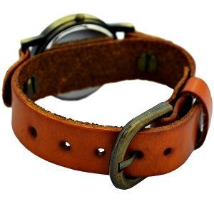 Vintage Leather Watchband Unisex Wr..